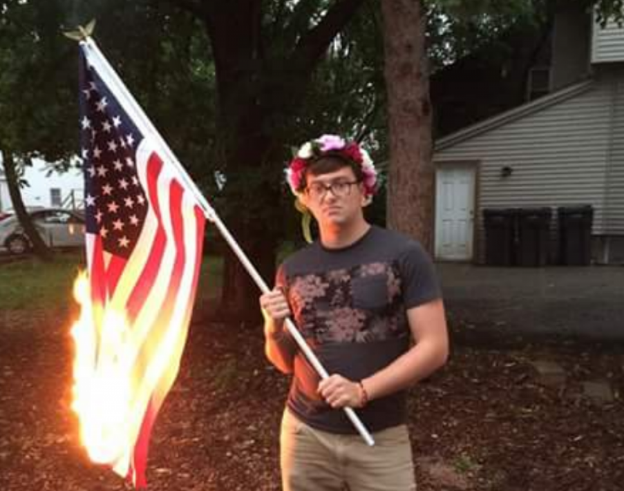 the question of whether flag burning is a crime in america