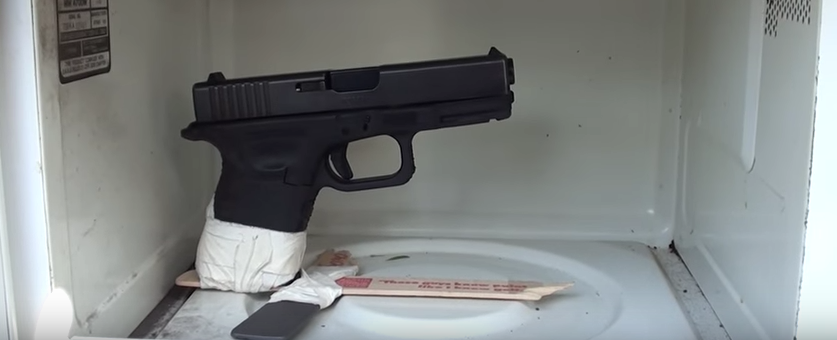 Watch What Happens When You Put A Loaded Glock In A Microwave Featured
