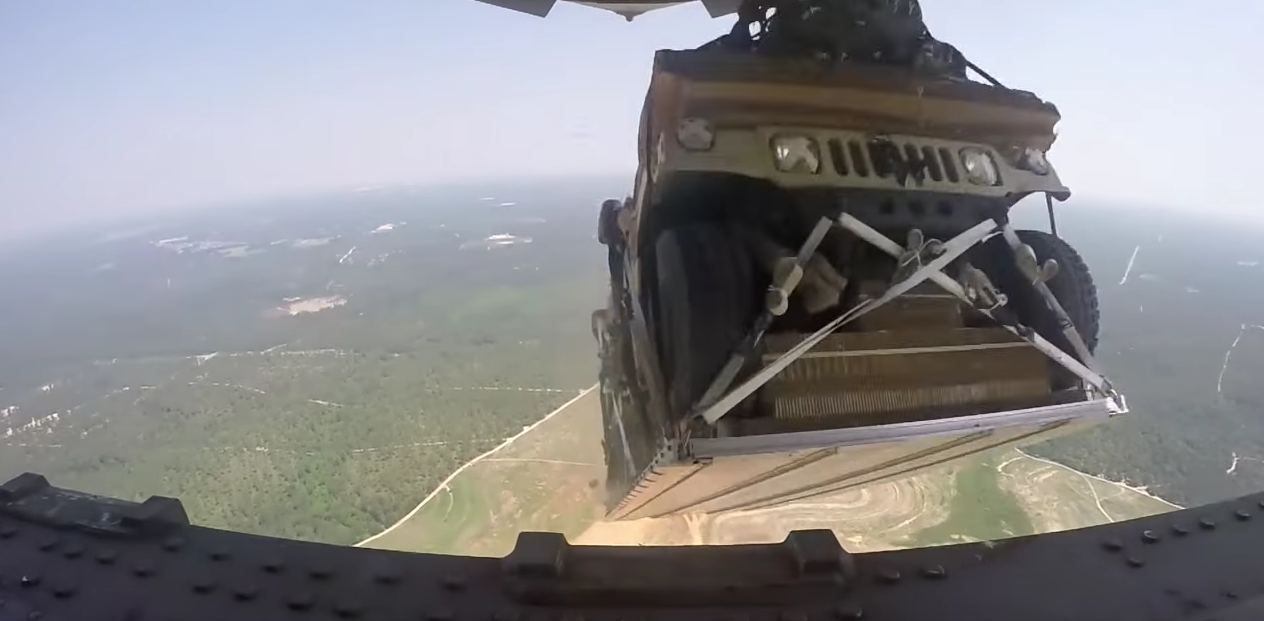 See U.S. Airmen Execute A Humvee Aerial Delivery From Multiple HD Angles Featured