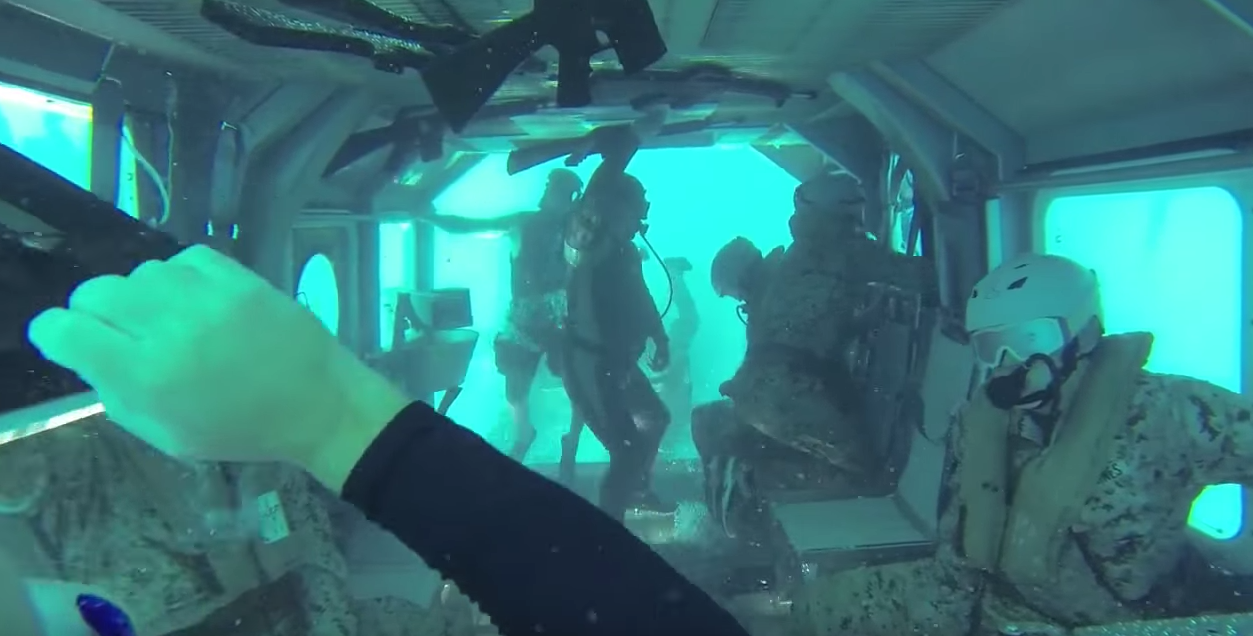 Watch U.S. Marines Learn What It Is Like To Be In A Sinking Helicopter Featured