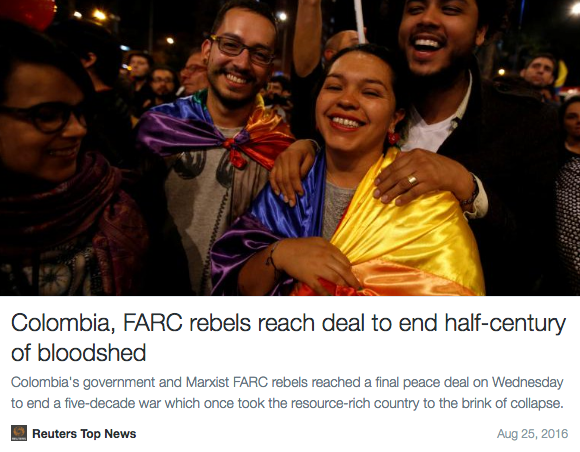 Screen Shot 2016 08 25 at 10.35.47 AM - After 50 Years Columbian Government & FARC Rebels Come To Historic Peace Deal