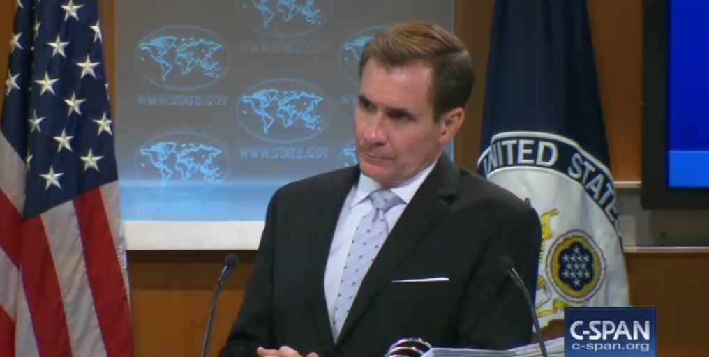 State Department Spokesman John Kirby during a tense Press briefing September 1, 2016