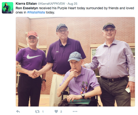 Screen Shot 2016 09 06 at 11.42.55 AM - Vietnam Vet Receives Purple Heart 51 Years After Helmet Pieces Lodged In Brain By Helicopter Blade
