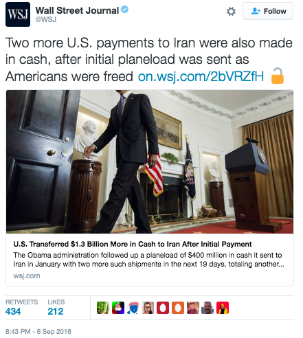 Screen Shot 2016 09 07 at 11.20.15 AM - Entire $1.7 Billion Paid In Cash to Iran - Rubio Files Bill To Forbid U.S. Government Paying Ransom To Iran Ever Again