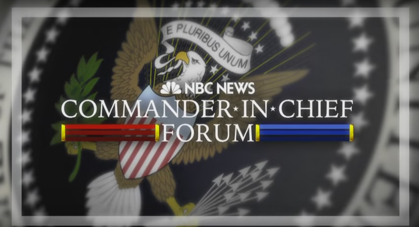 """Commander-In-Chief Forum: Clinton Admits A Lot Of """"Mistakes"""" While Trump Criticizes Obama And Clinton On ISIS Featured"""