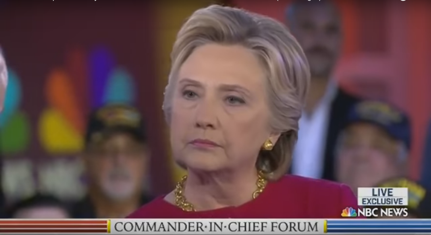 """Screen Shot 2016 09 08 at 10.17.43 AM - Commander-In-Chief Forum: Clinton Admits A Lot Of """"Mistakes"""" While Trump Criticizes Obama And Clinton On ISIS"""