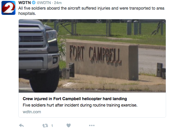 Screen Shot 2016 09 08 at 9.43.59 AM - Hard Landing At Fort Campbell Injures Five Soldiers