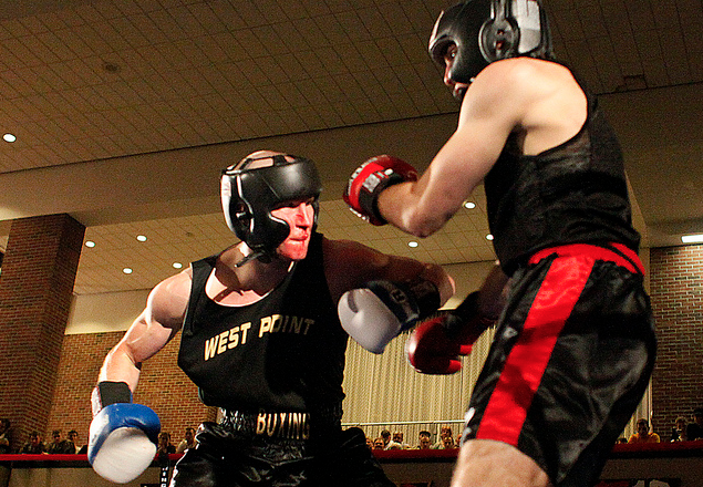 Male boxer from West Point Academy