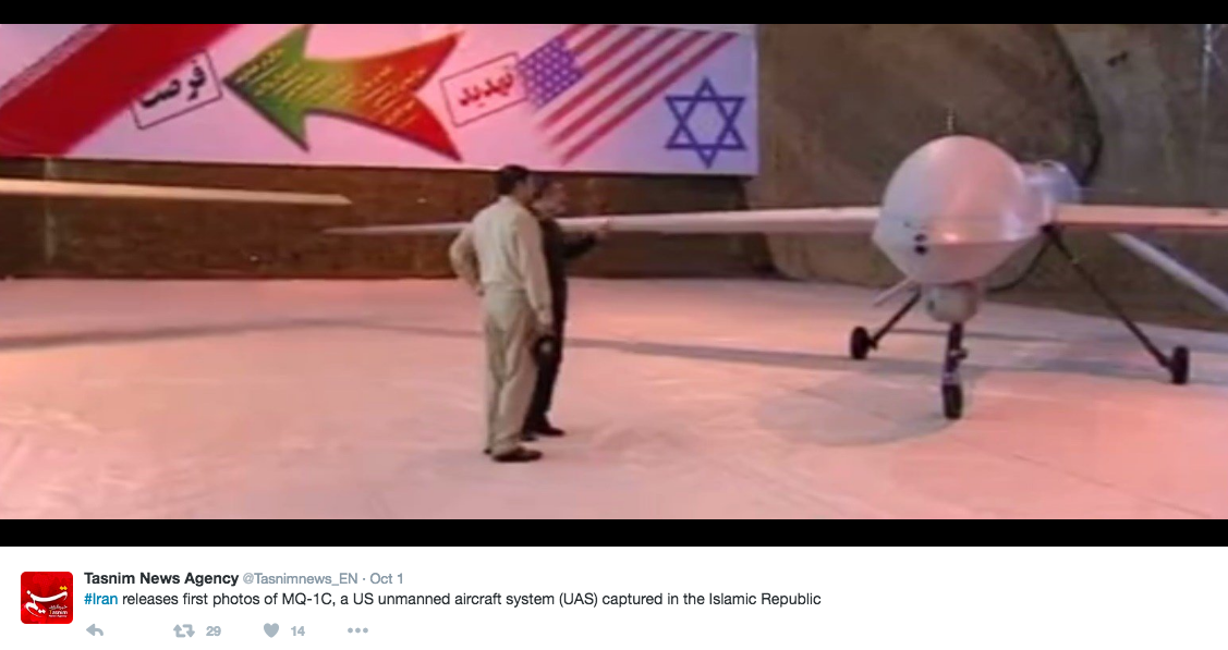 Screen Shot 2016 10 03 at 9.20.45 AM - See Photos That Iran Released Of Drone It Made From Stolen U.S. Drone