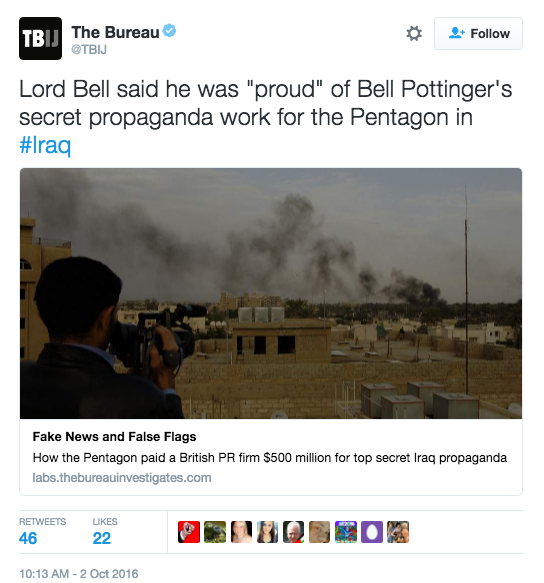 Screen Shot 2016 10 04 at 10.18.07 AM - Pentagon Spent Over $500 Mil. To Produce Fake Al Qaeda Videos To Dissuade Terrorists