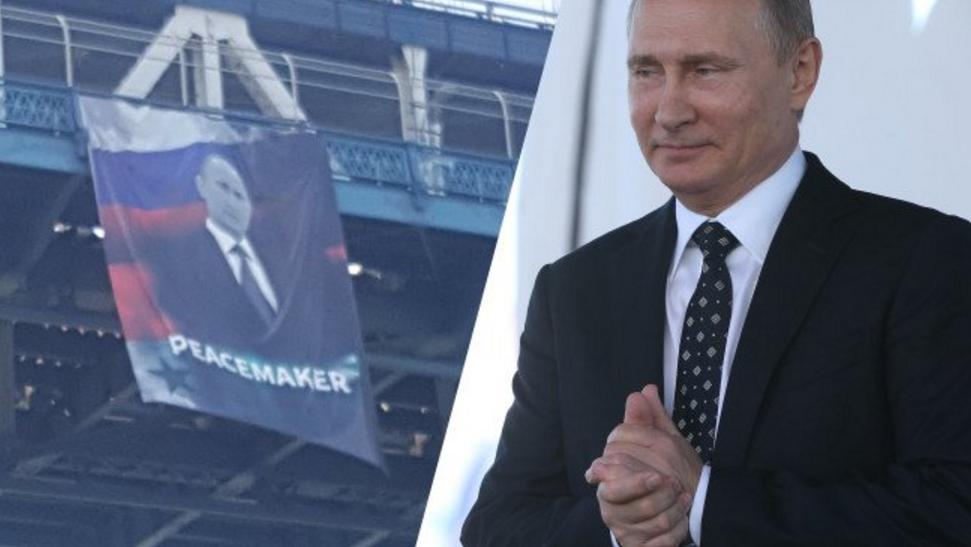 BREAKING [PICS]: Huge Vladimir Putin Banner Unfurled On Manhattan Bridge Featured