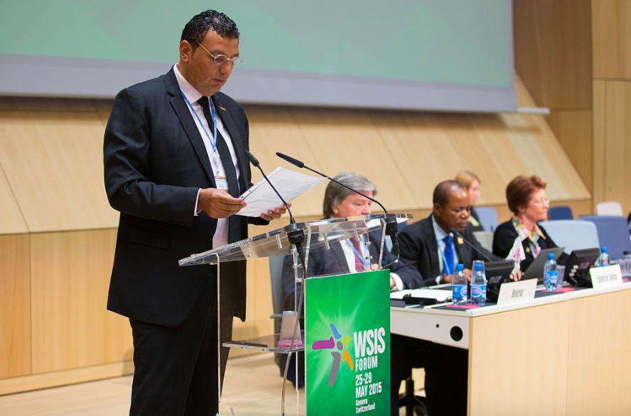 NizarZakka speaking in Geneva last year.