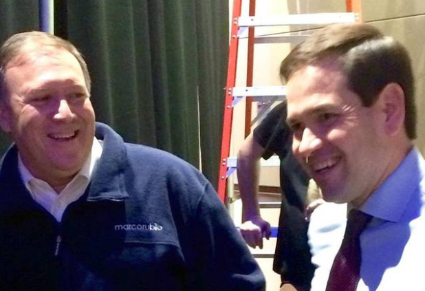 Rep. Mike Pompeo with Sen. Marco Rubio