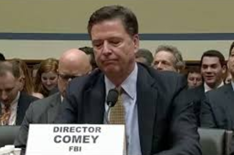 FBI Director Comey testifying about the email server.