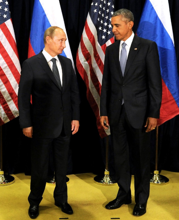Russian President Vladimir Putin and President Barack Obama.