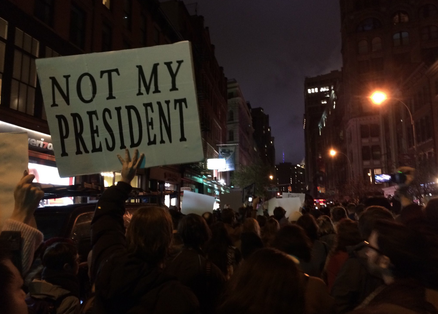 Screen Shot 2016 11 09 at 9.39.31 PM - BREAKING: Thousands Shut Down Streets In Major Cities In Anti-Trump Protests