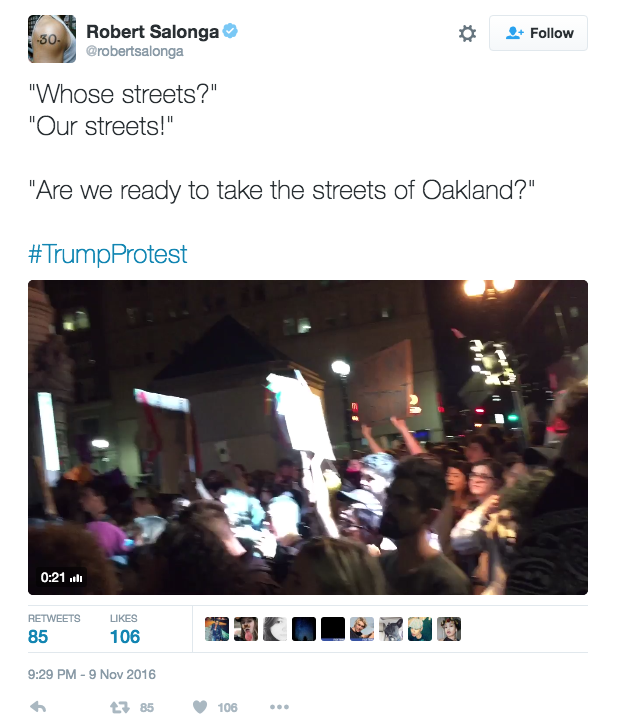 Screen Shot 2016 11 09 at 9.47.24 PM - BREAKING: Thousands Shut Down Streets In Major Cities In Anti-Trump Protests