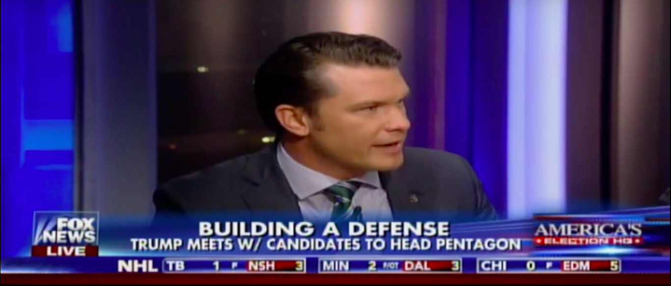 Hegseth: Mattis Would Restore A Warrior Ethos To The Pentagon Featured