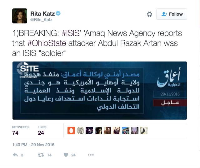 "Screen Shot 2016 11 29 at 2.18.10 PM - BREAKING: ISIS ""Claims Responsibility"" For Attack At Ohio State University"