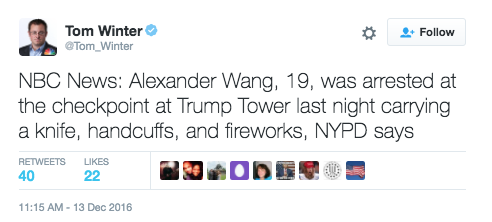 Screen Shot 2016 12 13 at 4.45.10 PM - Teen Arrested For Bringing Stockpile Of Weapons Into Trump Tower
