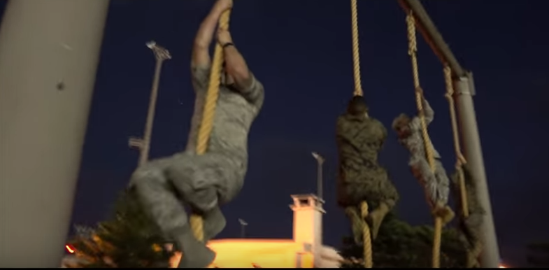 Members Of Military Branches Battle Head To Head In Obstacle Course Featured