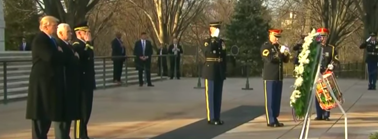 Trump Lays Wreath At The Tomb Of The Unknown Soldier Featured