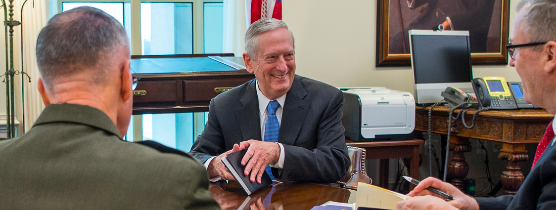 Here Are The Best Pictures Of The New SECDEF James Mattis From Over The Weekend Featured