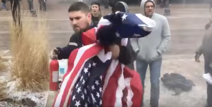 (VIDEO) FedEx Supports Driver Caught On Viral Video Saving American Flag From Being Burned By Protesters Featured