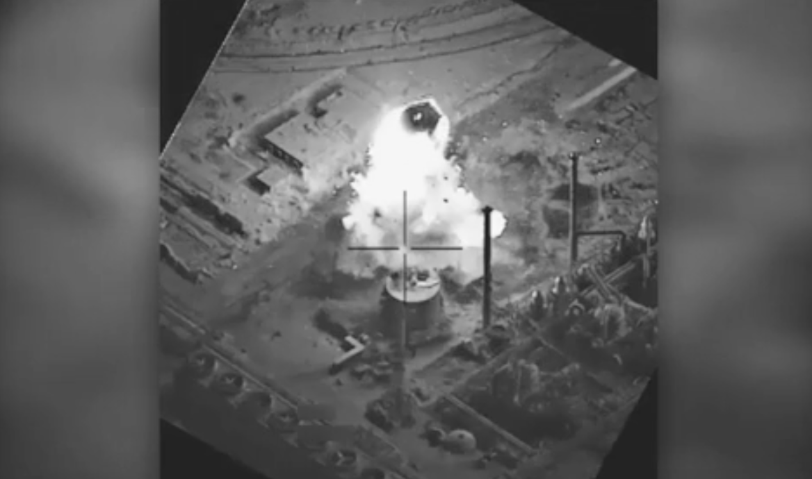 Watch Airstrike Destroy ISIS IED Making Facility & Chemical Munitions Plant Featured