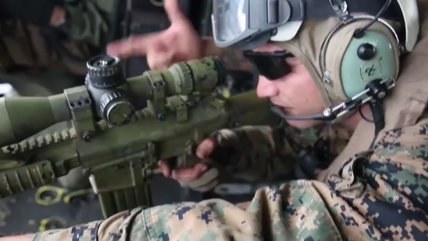 Watch U.S. Marine Snipers Conduct Aerial Live Fire Training Featured