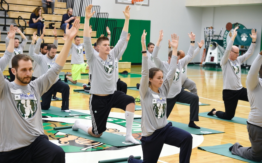 Screen Shot 2017 03 29 at 3.47.12 PM - U.S. Military Members Team Up With The Boston Celtics For Yoga