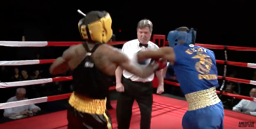 (VIDEO) Epic Marine Vs. Army Boxing Match Gets Heated Featured
