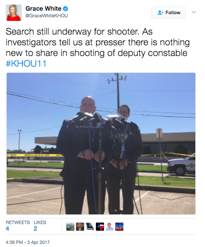 Screen Shot 2017 04 03 at 5.18.10 PM - Texas Police Officer Shot & Killed At Courthouse - Suspect At Large