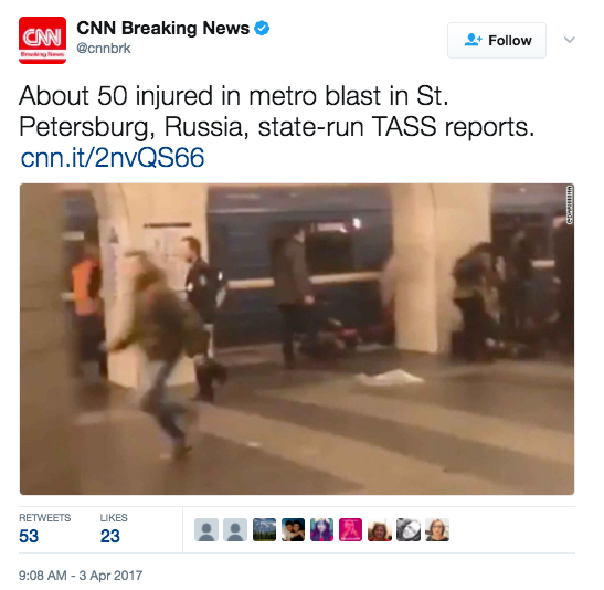 Screen Shot 2017 04 03 at 9.10.12 AM - At Least 10 Dead After Multiple Explosions At Russian Subway Station