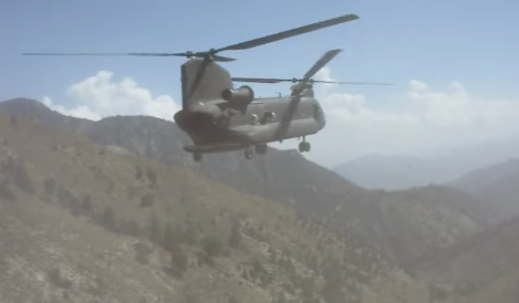 Image result for (VIDEO) Watch A Chinook Recover An Apache That Crashed Into A Mountain