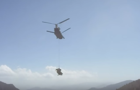 (VIDEO) Watch A Chinook Recover An Apache That Crashed Into A Mountain Afghanistan Featured Middle East Video
