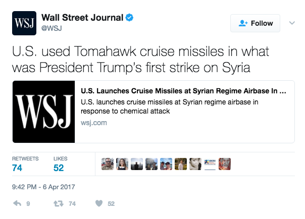 Screen Shot 2017 04 06 at 9.45.31 PM - U.S. Fires Roughly 50 Cruise Missiles At Syria (Video Of Missile Launches)