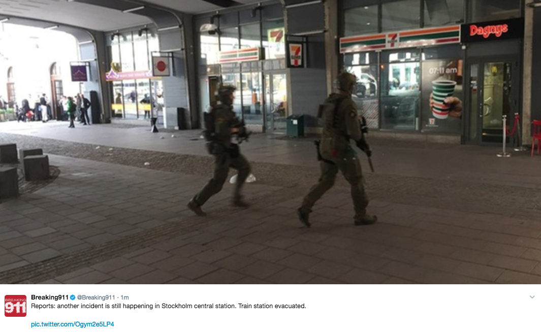 Screen Shot 2017 04 07 at 10.35.44 AM - Truck Attack Plows Through Crowd In Sweden - Deaths Reported (VIDEO)