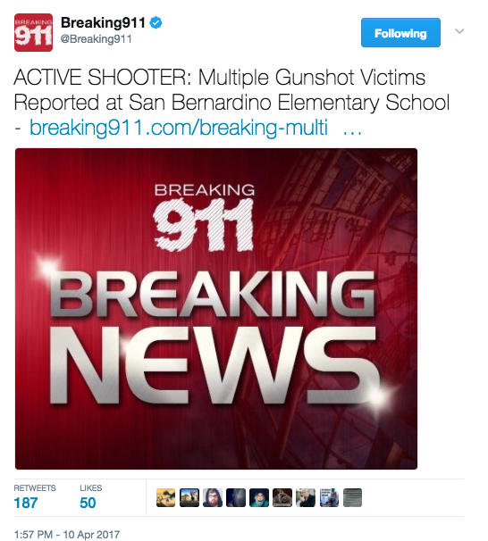 Screen Shot 2017 04 10 at 2.04.30 PM - [UPDATES] Shooting Reported At Elementary School San Bernardino - Multiple Victims Reported