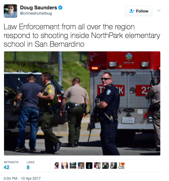 Screen Shot 2017 04 10 at 2.07.48 PM - [UPDATES] Shooting Reported At Elementary School San Bernardino - Multiple Victims Reported