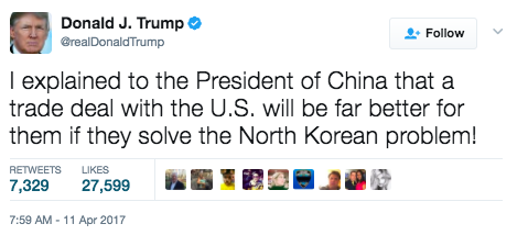 Screen Shot 2017 04 11 at 9.57.20 AM - Trump: We Will Solve The Problem Of North Korea Without China