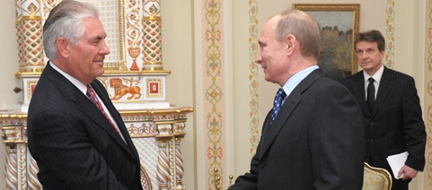 Putin and Tillerson in Moscow