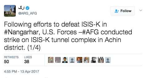 Screen Shot 2017 04 14 at 9.12.34 AM - (VIDEO) U.S. Releases Aerial Footage Of The Largest Non-Nuclear Bomb Hitting ISIS Tunnel