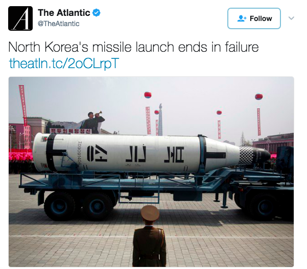 Screen Shot 2017 04 15 at 8.56.10 PM - North Korea Launches Another Missile, Fails Again