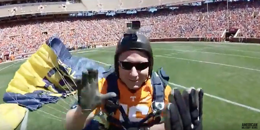 (VIDEO) Watch Navy SEALs Skydive Into Football Stadium Featured