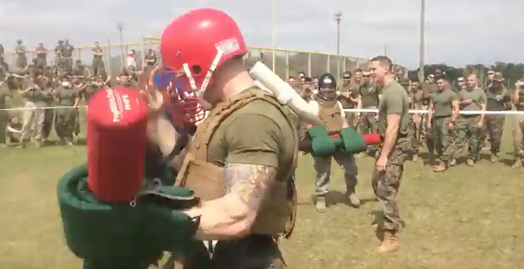 (VIDEO) Watch Marines battle Airmen with Pugil sticks Featured