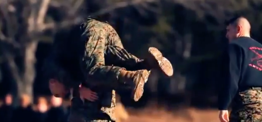 Screen Shot 2017 04 17 at 6.39.26 PM - (VIDEO) Watch UFC Fighters Take On Marine Corps Training