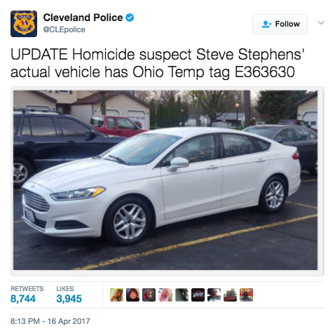 Screen Shot 2017 04 17 at 9.26.14 AM - Suspect Kills Man On Facebook Live In Cleveland - Massive Manhunt Underway