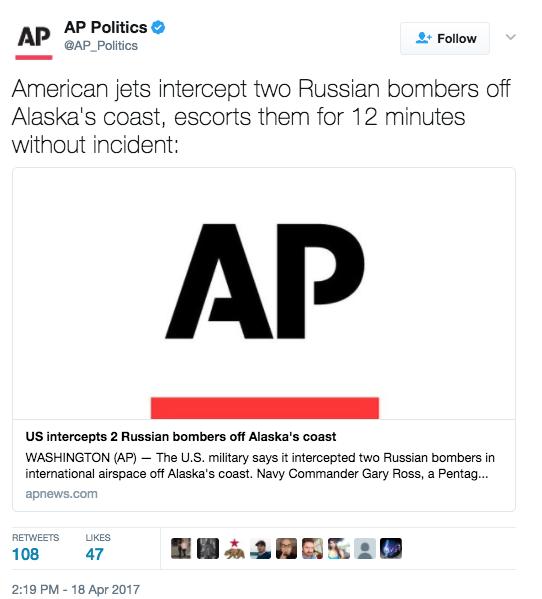 Screen Shot 2017 04 18 at 4.18.16 PM - U.S. F-22s Intercept Russian Bombers Near Alaskan Border