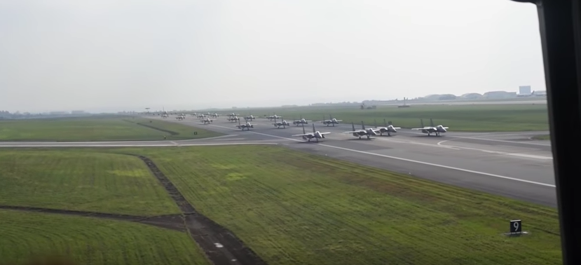U.S. Air Force Stages Massive Elephant Walk At Kadena Air Base, Japan Featured